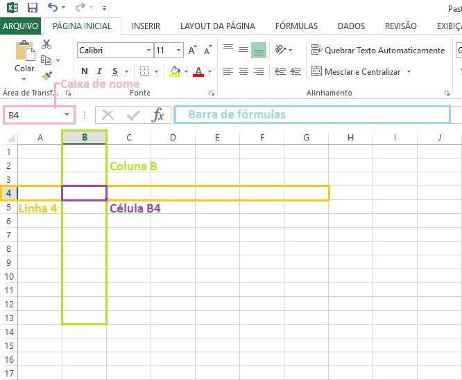 Linhas, colunas, células e fórmulas, os conceitos básicos do Excel
