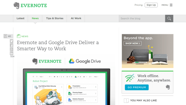 Evernote Blog.png?t=1505932326404&width=789&name=Evernote Blog - 10 Examples of Business Blogs that Rock
