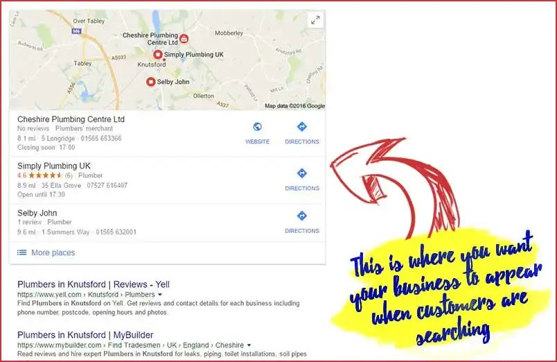 Appear in the Google 3 Pack - Local SEO