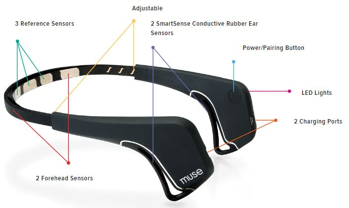 Muse Headband Review Sensors