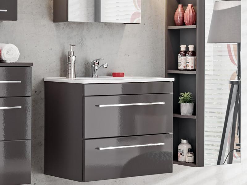 modern vanity bathroom cabinet unit with ceramic sink grey matt gloss twist twist 820 grey cfp 2060rb 8009 dp