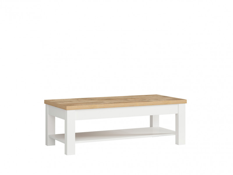 country cottage rectangular coffee table with storage shelf white oak dreviso d05022 txl dreviso dwm bal