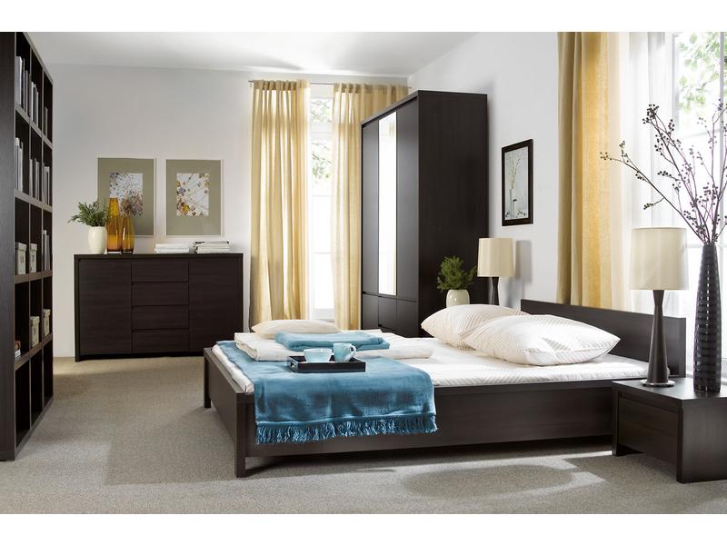 modern king size bedroom furniture set wenge dark wood kaspian kaspian kng bed set we