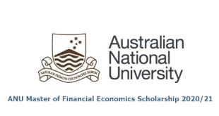 ANU Master of Financial Economics Scholarship