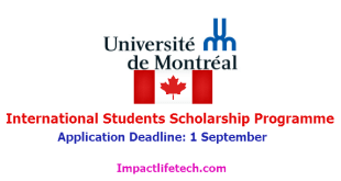 University of Montreal (UdeM) Grants for International Students in Canada