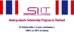 Sirindhorn International Institute of Technology Scholarship in Thailand