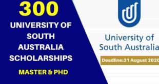 Fully Funded University of South Australia Scholarships 2021