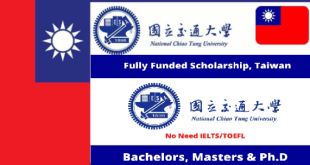 Scholarships at National Chiao Tung University in Taiwan