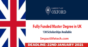 Fully Funded University of Oxford Clarendon Scholarships