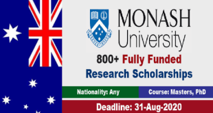 800 Monash university Scholarships in Australia 2021