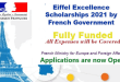 International Students Eiffel Excellence Scholarship 2021