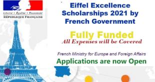 International Students Eiffel Excellence Scholarship 2021