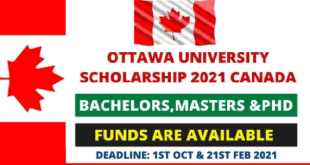 University of Ottawa Scholarship for International Students 2021