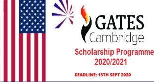 Bill Gates Scholarships Program in USA 2021