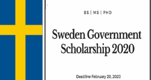 Fully Funded Sweden Government Scholarship 2021/2022