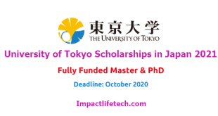 University of Tokyo International Students Scholarships in Japan 2021