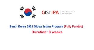 South Korea Global Internship Program 2021
