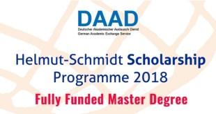 DAAD Helmut Schmidt scholarships in Germany