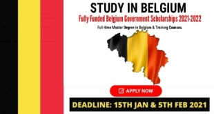 Fully Funded Belgium Government Scholarships 2021