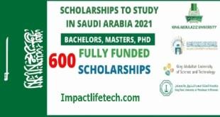 Fully Funded 600 Scholarships in Saudi Arabia 2021