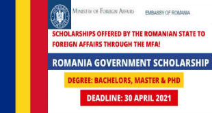 Fully Funded Romania Government Scholarship 2021