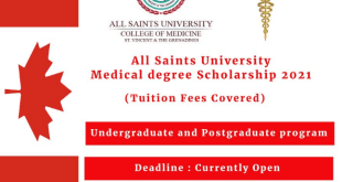 Fully Funded All Saints University College of Medicine Scholarship