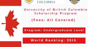 University of British Columbia- Fees, Scholarship Programs and Rankings