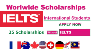 Fully Funded 25 Scholarships Without IELTS Requirements