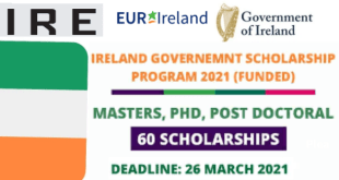 Ireland Government Scholarship 2021 (Fully Funded)