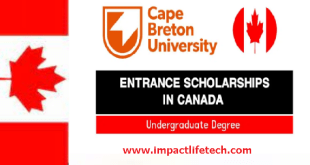 CBU Entrance Scholarships in Canada