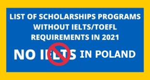 Polish International Scholarship Without IELTS