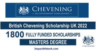 British Chevening Scholarship in UK
