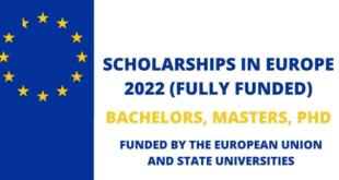 List of European Scholarships For International Students
