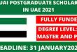 Fully Funded MBZUAI Scholarship in UAE 2022