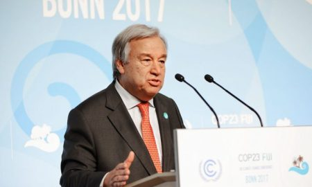 Secretary-General of the United Nations, Mr. António Guterres at Bonn [image: UNclimatechange]