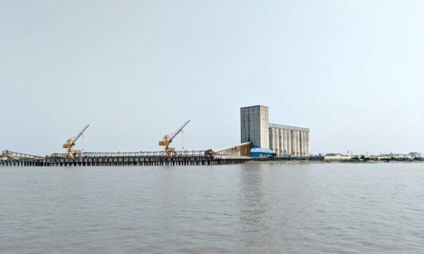 A giant grain silo near Mongla port [image by: Soumya Sarkar]