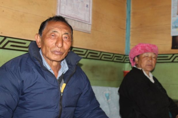 Pipon, an elected member of the local council, with his wife [image by: Nita Narash]