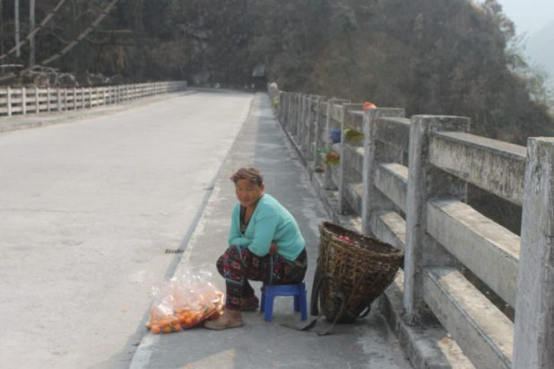 Waiting for tourists on the North Sikkim highway [image by: Nita Narash]
