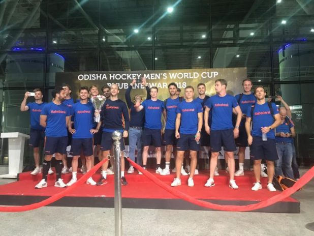 Picture : Hockey India , Netherlands Team