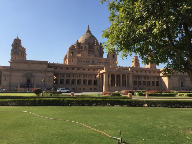 The Umaid Bhavan Palace in Jodhpur, Rajasthan.