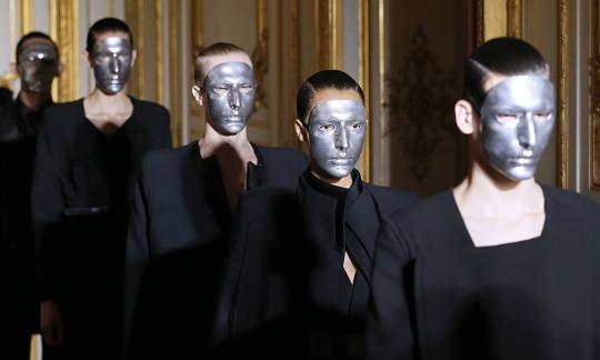 Models present creations by Rad Hourani