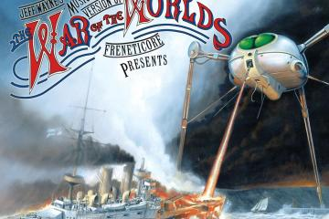 War of the Worlds Image with Freneticore text