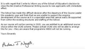 course closure