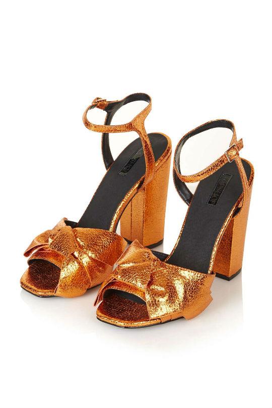 topshop metallic heels