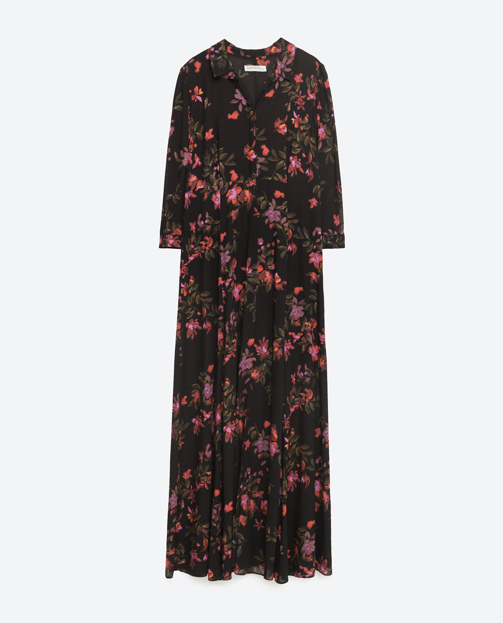 Zara - LONG DRESS WITH FLORAL PRINT 39.99