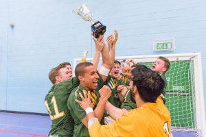 UoN Futsal squad celebrate their Varsity win over Nottingham Trent in May
