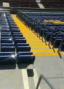 pintado suelo anti patinaje escalera granda campo futbol by impapol resin