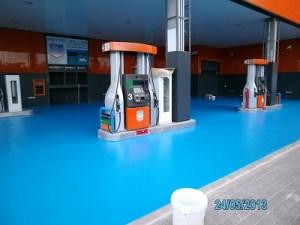 paviment multicapa impapol resin  gasolinera Barcelona