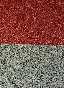 ampliació detall paviment decoratiu silice exterior mollet barcelona impermeabilitzat membrana líquida poliuretà amb silice