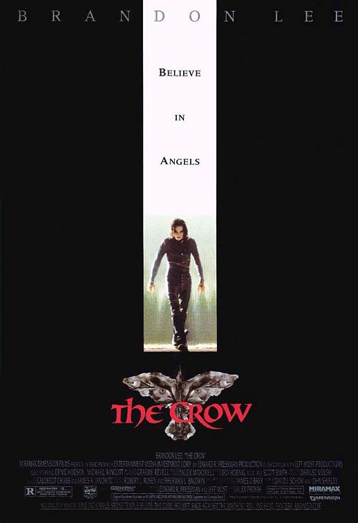 brandon lee the crow movie poster